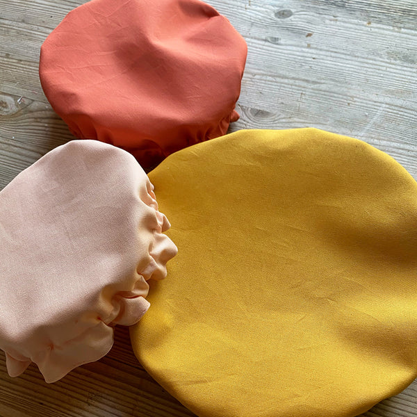 Terracotta Blush Spring Set | Reusable Washable Cotton Fabric Food Baking Bread Mixer Bowl Covers | Zero Waste Eco-friendly Sustainable Gift