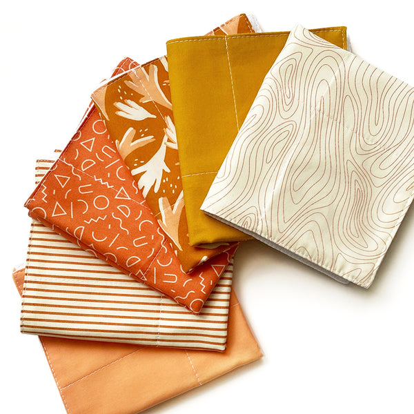 Reusable 3ply Cotton Paper Paperless Towels | Eco-friendly Zero Waste Gift | Modern Golden Autumn Set