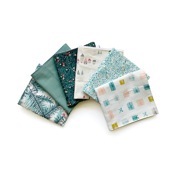 Reusable 3ply Cotton Paper Paperless Towels | Eco-friendly Zero Waste Gift | Modern Winter Set