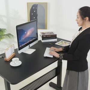 "Pneumatic 55 x 27"" Stand Desk with Rectangular Top"