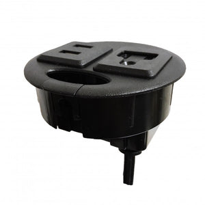 ApexDesk UL Certified Power Grommet - Comes with One Power Outlet, Two USB Ports, and Fits Cable Holes with Diameter 80mm