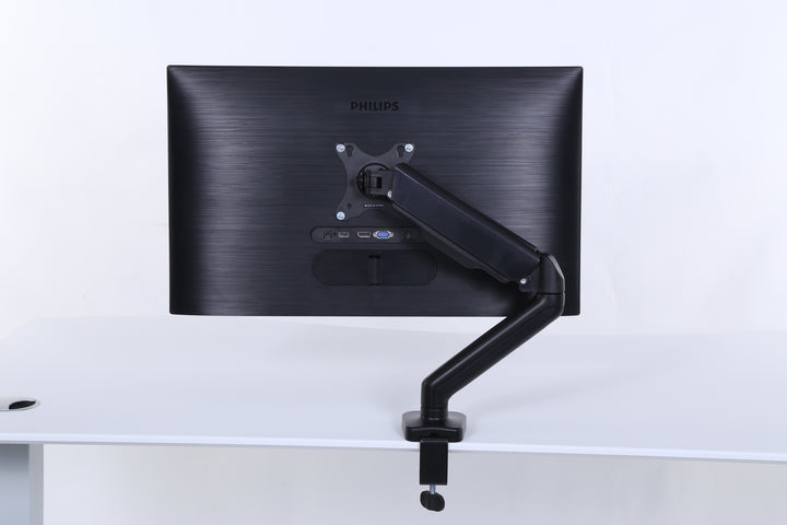 ApexDesk Monitor Arms Desk Mount – VESA Mount with C Clamp & Grommet Mounting Base – for Screen up to 32 inch – Holds up to 20 lbs.
