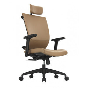 ApexDesk SK Series Ergonomic Leather High-Back Office Chair Adjustable Seat Height, Backrest and Armrest