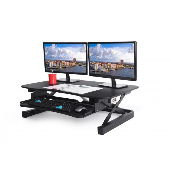 ZT Series Height Adjustable Sit to Stand Electric Desk Converter, 2-Tier Design with Large 36x24