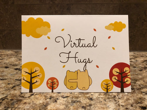 FREE Virtual Hugs Encouragement Card, limited card offer every month