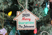 Load image into Gallery viewer, Personalized 2020 Family Christmas Ornament, Embroidered Burlap