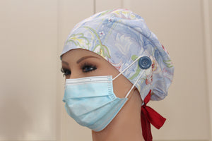 Scrub Cap for Women, Nurses, Doctors, Medical Students, Blue Harvest