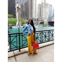 Porsha High Waist Pants-Mustard - JC's Boutique