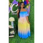 Beyonce Maxi Dress Blue - JC's Boutique