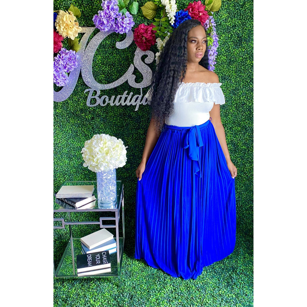 Desiree Maxi Skirt Blue - JC's Boutique