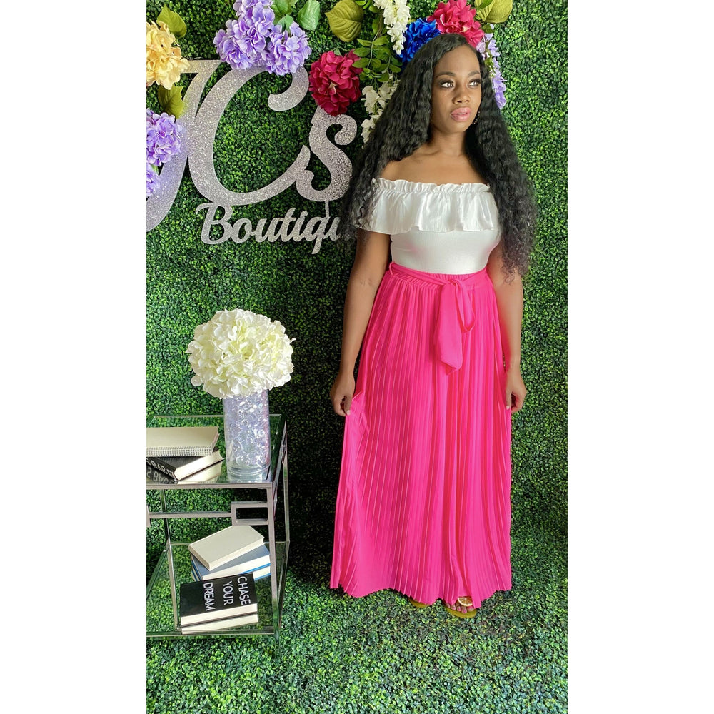 Desiree Maxi Skirt Pink - JC's Boutique