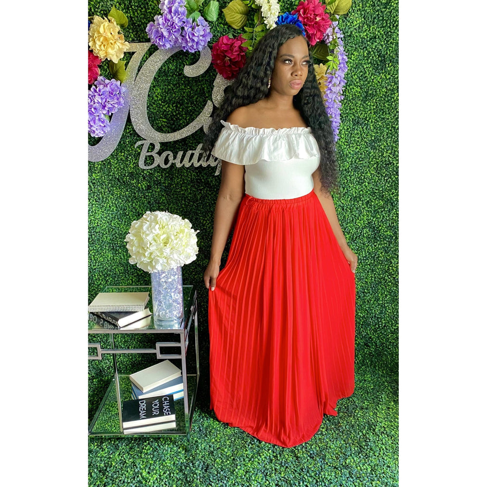 Desiree Maxi Skirt Red - JC's Boutique