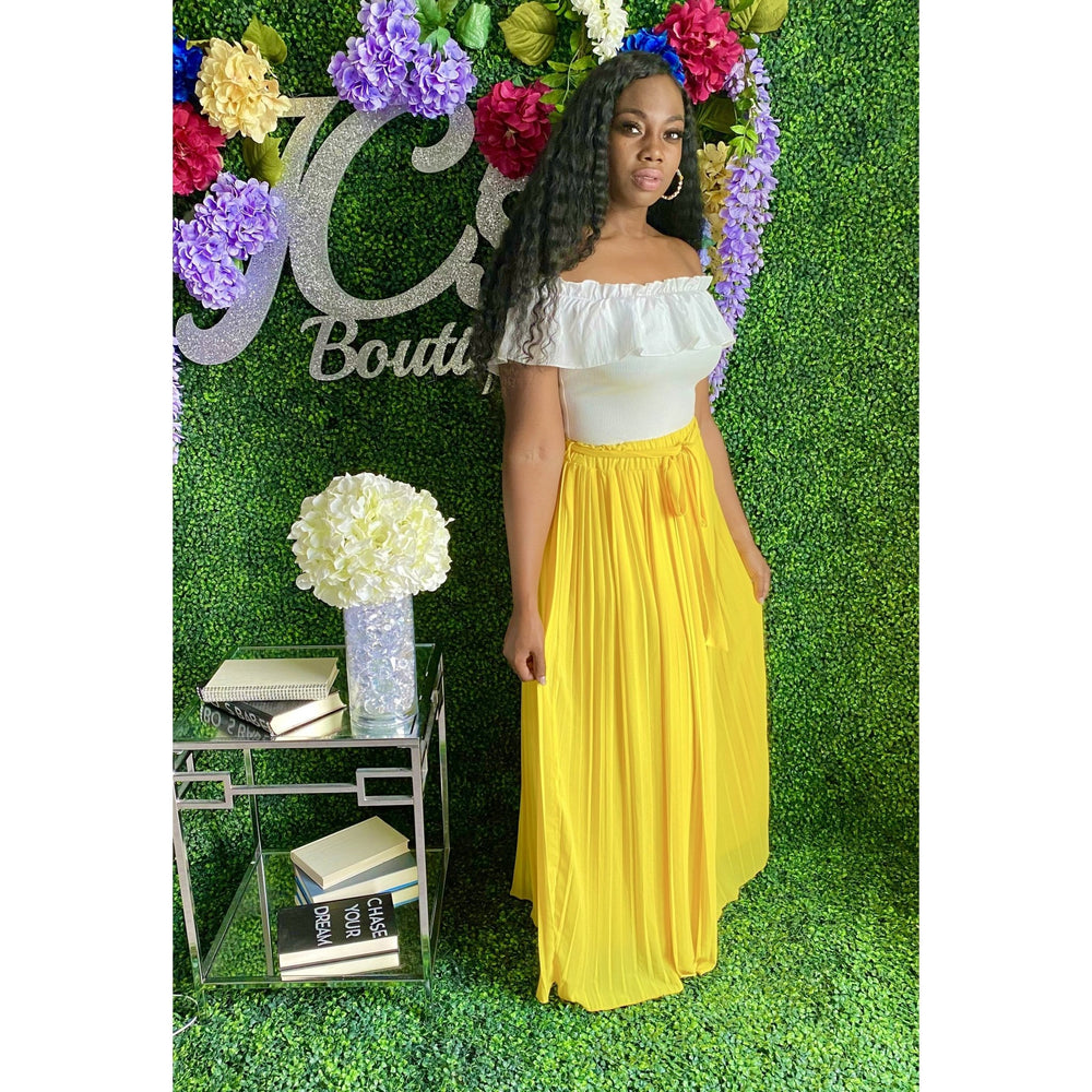 Desiree Maxi Skirt Yellow - JC's Boutique