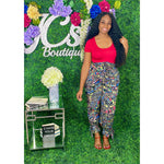 In Living Color Bodysuit Red - JC's Boutique