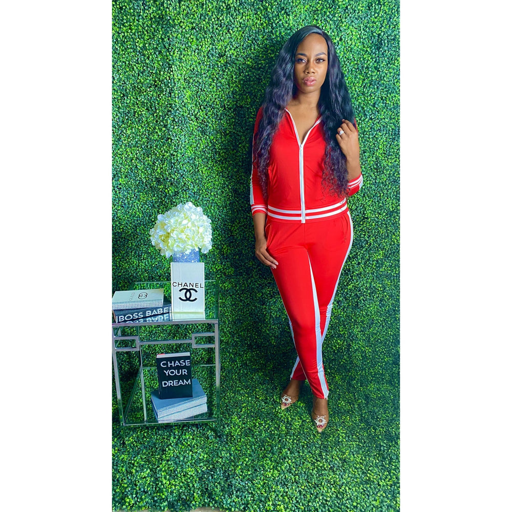 You got it girl Tracksuit Red - JC's Boutique