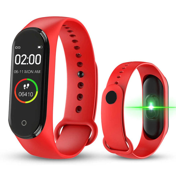 Smart Band M4 Reloj Deportivo Pulsera Inteligente Bluetooth - Rojo