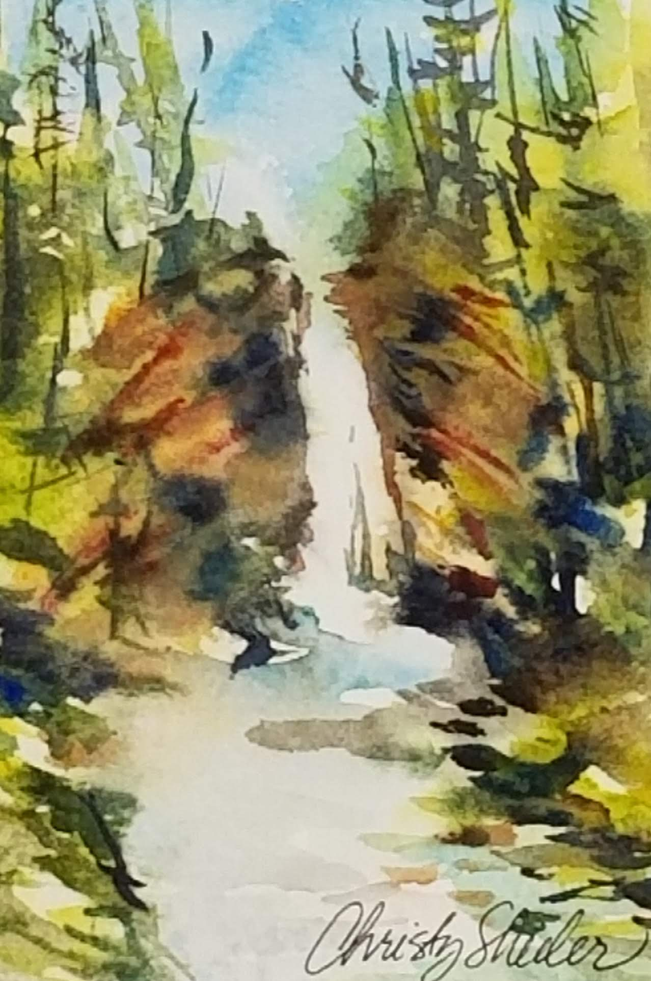 Watercolor Study of Mill Falls