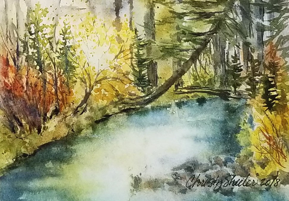 Serenity By A Mountain Stream
