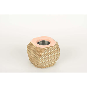Priormade Geo Vessel Blush Pink CHRISTMAS SALE 30% OFF  - Geo | Vessels - top painted (various colours)