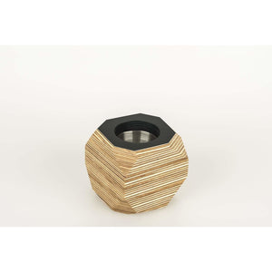 Priormade Geo Vessel Charcoal CHRISTMAS SALE 30% OFF  - Geo | Vessels - top painted (various colours)