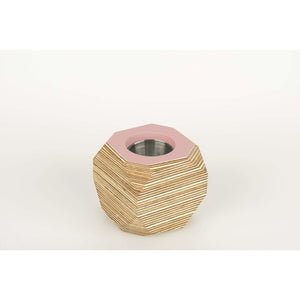 Priormade Geo Vessel Dusty Pink CHRISTMAS SALE 30% OFF  - Geo | Vessels - top painted (various colours)
