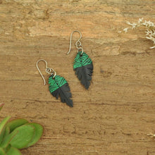 Load image into Gallery viewer, PRIORMADE Inner tube earrings 3cm Inner Tubes - Green lines