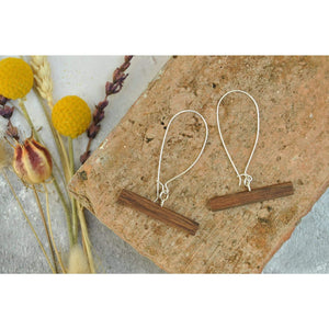 Priormade Wooden Earrings Jarrah - 1800 Brewery Pontoon Bar -  Reclaimed Wooden Earrings (various woods)