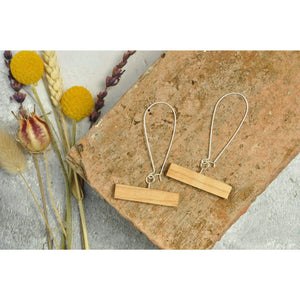 Priormade Wooden Earrings Maple - Bowling Alley Bar -  Reclaimed Wooden Earrings (various woods)
