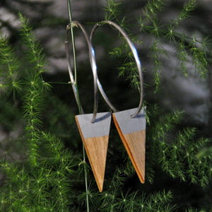 Priormade Wooden Earrings Reclaimed Wood - 1800's Oak Whiskey Barrel (various styles)