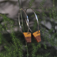 Load image into Gallery viewer, Priormade Wooden Earrings Reclaimed Wood Hoop Earrings - Church Organ