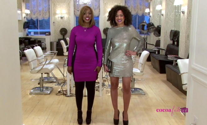 HAPPY #TBT : Miko & Titi Branch Help Create a Look Inspired by Curly Celeb Tracee Ellis Ross, for Cocoa Fab TV