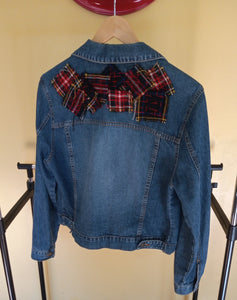 Upcycled Denim Jacket- Boro Inspired