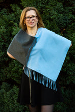 Load image into Gallery viewer, Fringed Cashmere Poncho