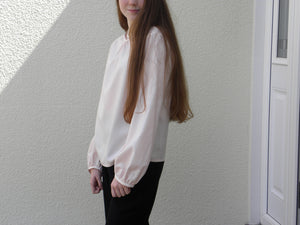 Light Pink Blouse - Fine Merino Wool