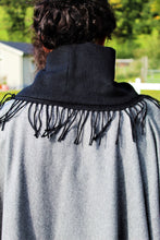 Load image into Gallery viewer, Wool Poncho With Black High Neck Collar