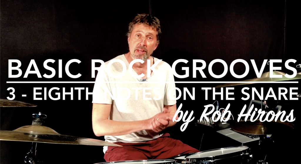 Basic Rock Grooves Lesson 3 - Eighth Notes on the Snare (Beginner)