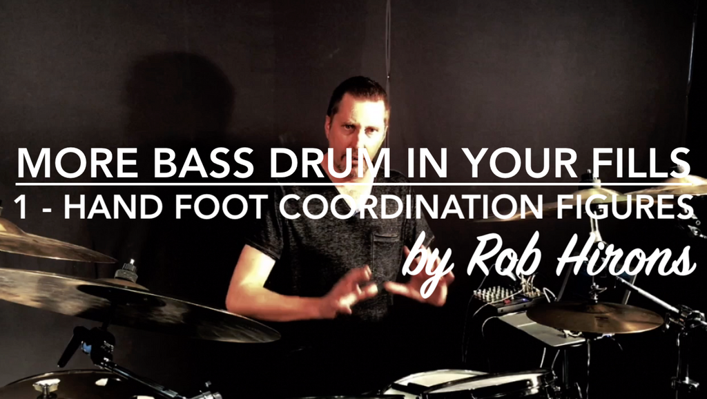 More Bass Drum in your fills Lesson 1 - Hand Foot Coordination Figures (Intermediate)