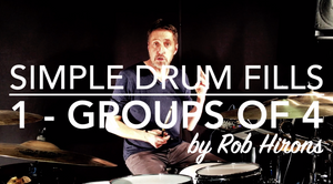 Simple Drum Fills Lesson 1 - Groups of 4 (Beginner)