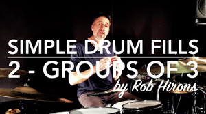 Simple Drum Fills Lesson 2 - Groups of 3 (Beginner)
