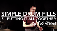 Simple Drum Fills Lesson 5 - Putting it all together (Beginner)