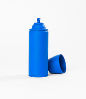 Blue Spray Painted Spray Paint Can