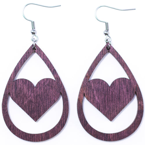 Heart Earrings - The Mitten Roots