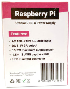 Raspberry Pi Official Black power supply