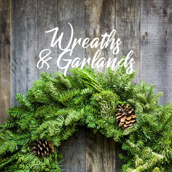 Real Christmas Wreaths and Garlands