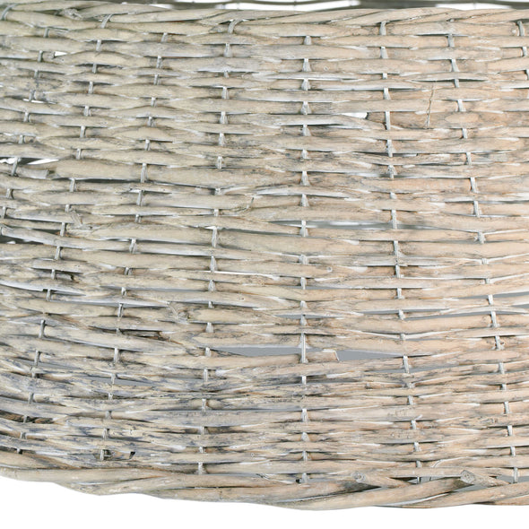 Beige Wicker Tree Ring | 70cm x 28cm | Christmas Tree Base Cover | Festive Winter Decoration