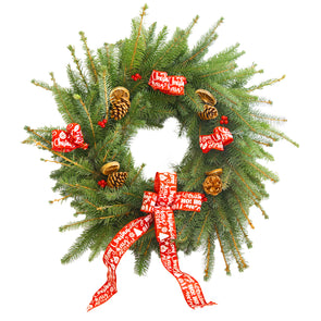 "Spruce Christmas Wreath (12"", Red)"