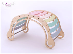The XXL Pastel Rocker + RAMP for kids in pastel colors