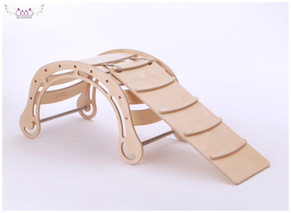 The Original Natural Rocker + RAMP for kids in natural wooden colors