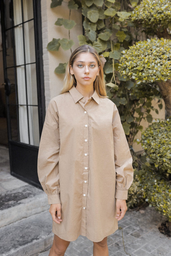 dolman shirt one-piece (beige)