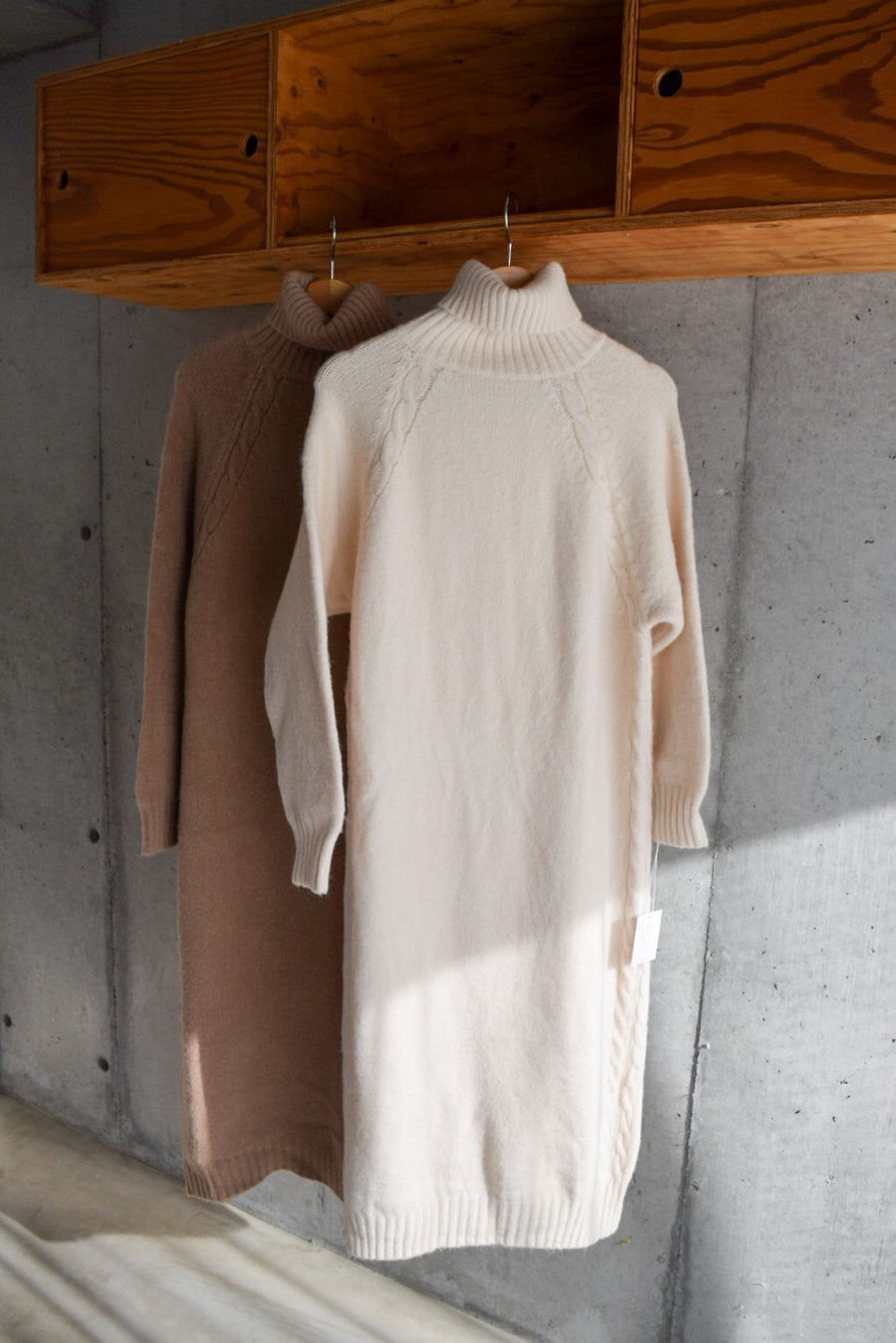 high neck knit one-piece